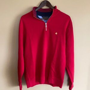 Brooks Brothers 1/4 Zip Mock Neck Sweater - M